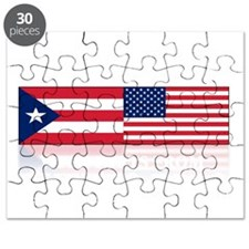 made in puerto rico(blk) Puzzle
