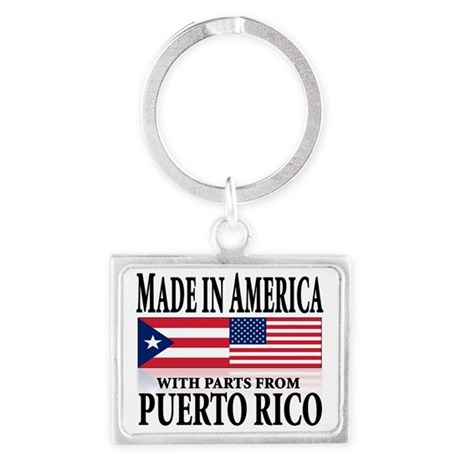 made in puerto rico Landscape Keychain