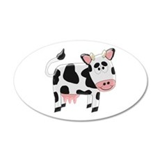 Black And White Cow Wall Sticker