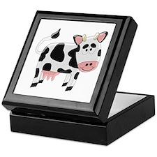Black And White Cow Keepsake Box