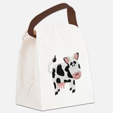 Black And White Cow Canvas Lunch Bag