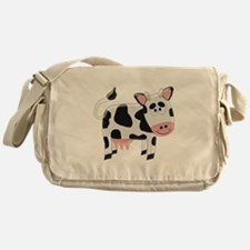 Black And White Cow Messenger Bag
