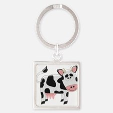 Black And White Cow Keychains