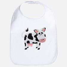 Black And White Cow Bib