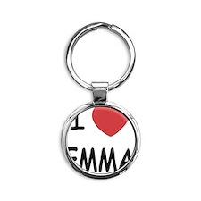 EMMA Round Keychain