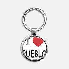 PUEBLO Round Keychain