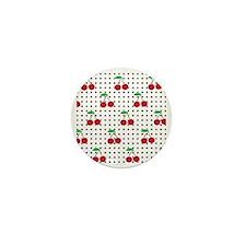cherry square Mini Button