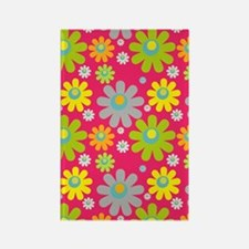 441 Pink Flowers Rectangle Magnet