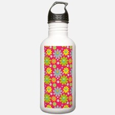 441 Pink Flowers Water Bottle