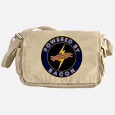 powered by bacon lightning 9 Messenger Bag
