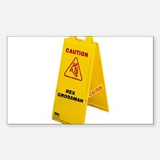 Slippery When Wet Rectangle Decal