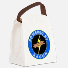 powered by bacon chip 8 Canvas Lunch Bag