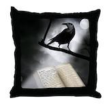 Edgar allan poe Throw Pillows