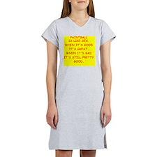 PAINTBALL Women's Nightshirt