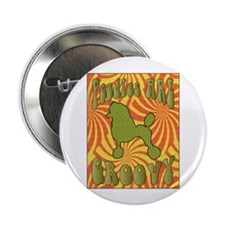 "Groovy Poodle 2.25"" Button (10 pack)"