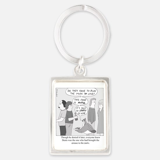 Party Grouse Portrait Keychain