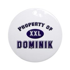 Property of dominik Ornament (Round)