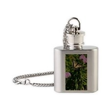 Butterfly Journal Flask Necklace