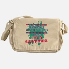 im a swimmer-01 Messenger Bag