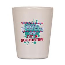 im a swimmer-01 Shot Glass
