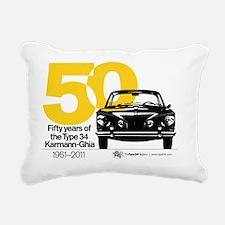 50yearsTshirt Rectangular Canvas Pillow