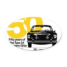 50yearsTshirt Oval Car Magnet