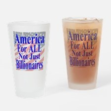 America for ALL 35  Flags  Drinking Glass