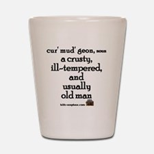 Curmudgeon large Shot Glass