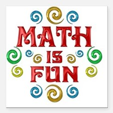 "math Square Car Magnet 3"" x 3"""