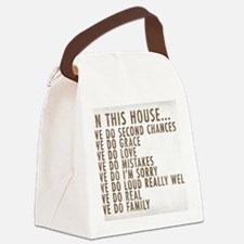 In This House Canvas Lunch Bag