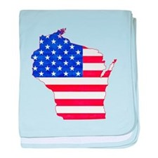Wisconsin Flag baby blanket