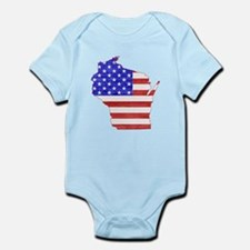 Wisconsin Flag Infant Bodysuit