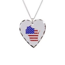 Wisconsin Flag Necklace