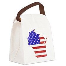 Wisconsin Flag Canvas Lunch Bag