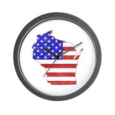 Wisconsin Flag Wall Clock