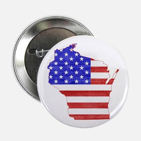 "Wisconsin Flag 2.25"" Button"