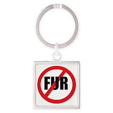 V-fur Square Keychain
