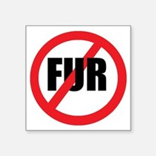 "V-fur Square Sticker 3"" x 3"""