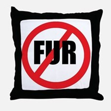 V-fur Throw Pillow