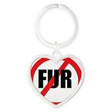 V-fur Heart Keychain
