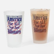 America for ALL 35 dk bl  Flags Drinking Glass