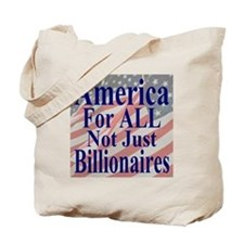 America for ALL 35 dk bl  Flags Tote Bag