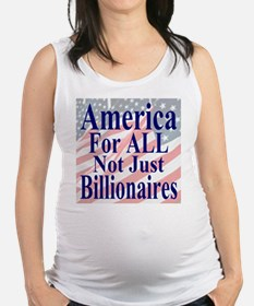 America for ALL 35 dk bl  Flags Maternity Tank Top