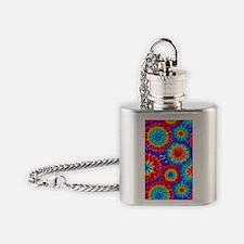 443 Tie-Dye10 Flask Necklace