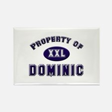 Property of dominic Rectangle Magnet