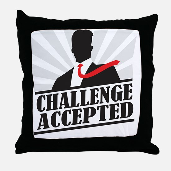 challengeaccepted Throw Pillow