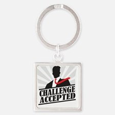 challengeaccepted Square Keychain