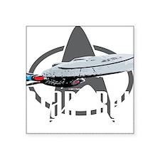 """Star-Trek-TNG-blk Square Sticker 3"""" x 3"""""""