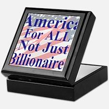America for ALL 35  dk-bl  Flags Cafe Keepsake Box