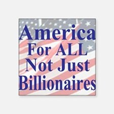 "America for ALL 35  dk-bl   Square Sticker 3"" x 3"""